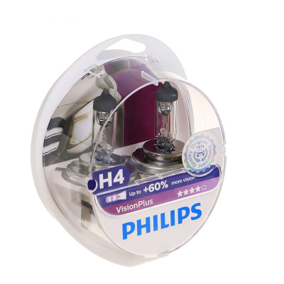 Лампа Philips H4 Vision Plus - фото